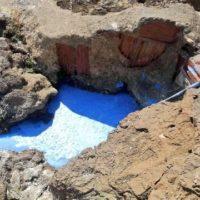 Peinture bleue dans la méditerranée