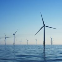Parc éolien en mer de Rampion, au Royaume Uni