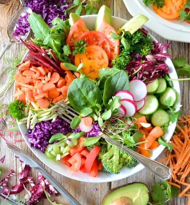 Un plat végétarien typique.